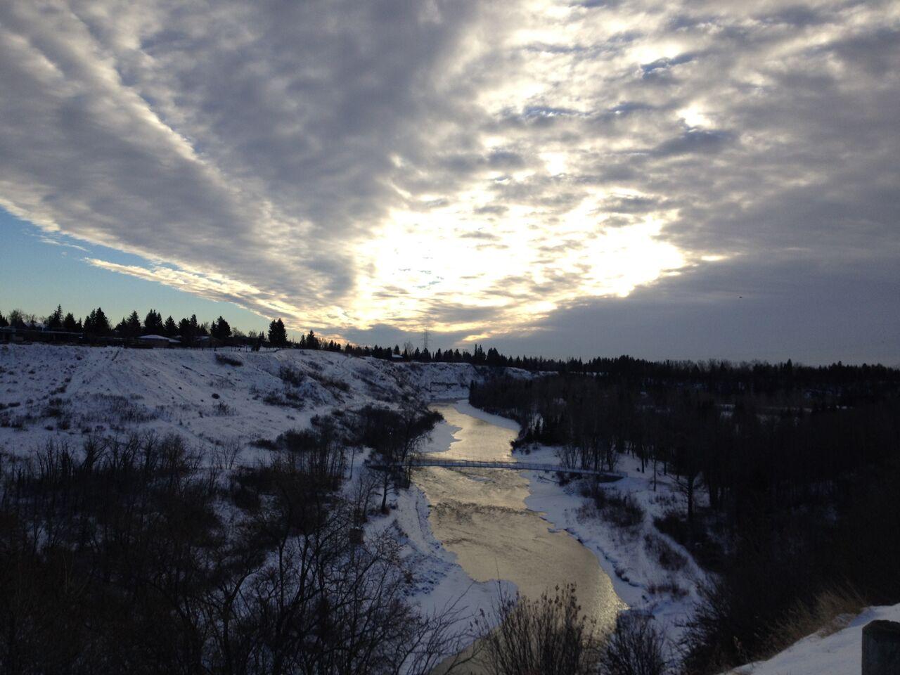 Morning Reflection, Elbow River, Calgary