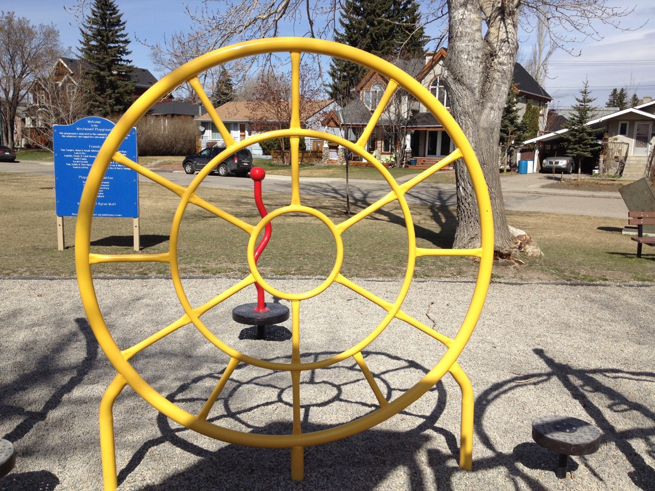Colour and Shadow Fun, West Hillhurst, Calgary