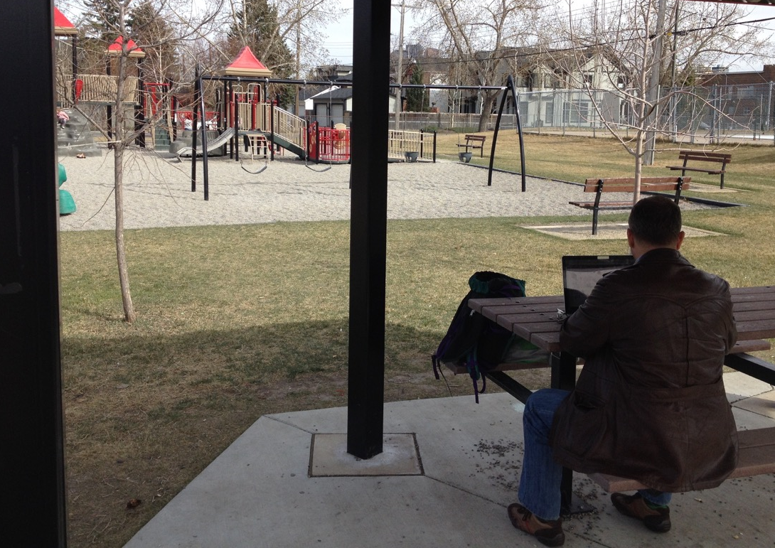 Another Day At The Office, West Hillhurst Community Centre Playground, Calgary
