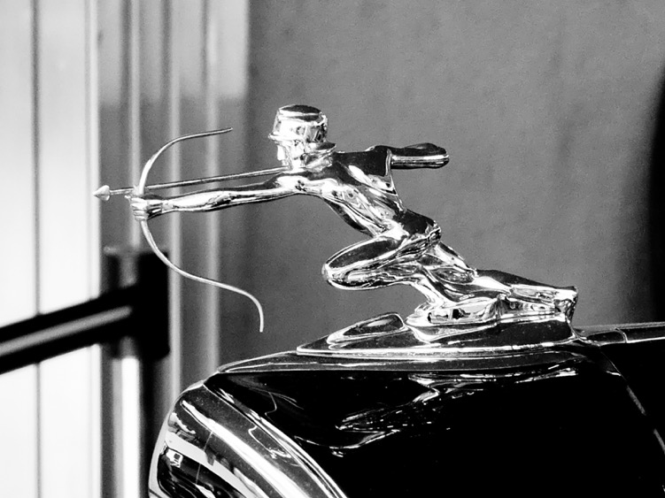 Lawrence: The Pierce Arrow Museum was a great find...loved the playboy car but this hood ornament and hundreds of others made me envious. R