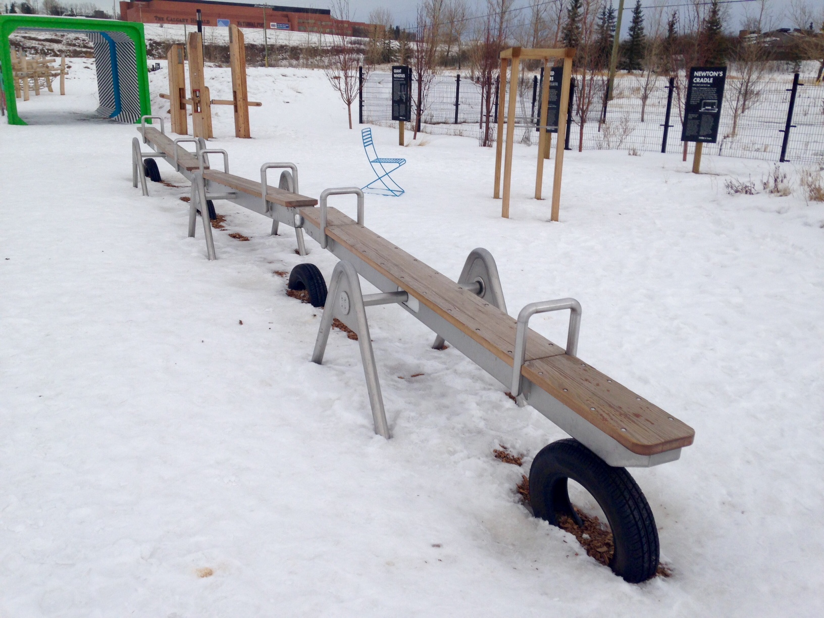 Love this contemporary teeter totter.