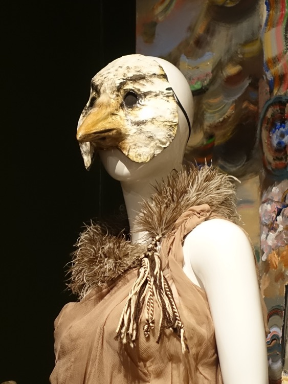 This figure from one of Hardy's installations comes straight out of a modern haute couture runway.