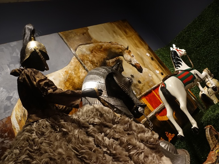Armoured Horse, Carousel Horse, Horse Painting, Kaleidoscopic Animalia, Glenbow