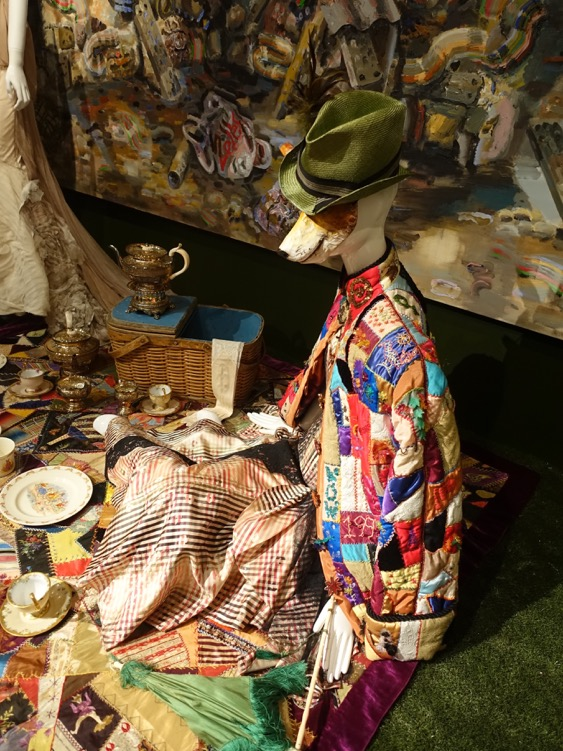 Close up of one of Hardy's installations that combines hundreds of art and artifacts from the Glenbow's massive collection into a themed installation.