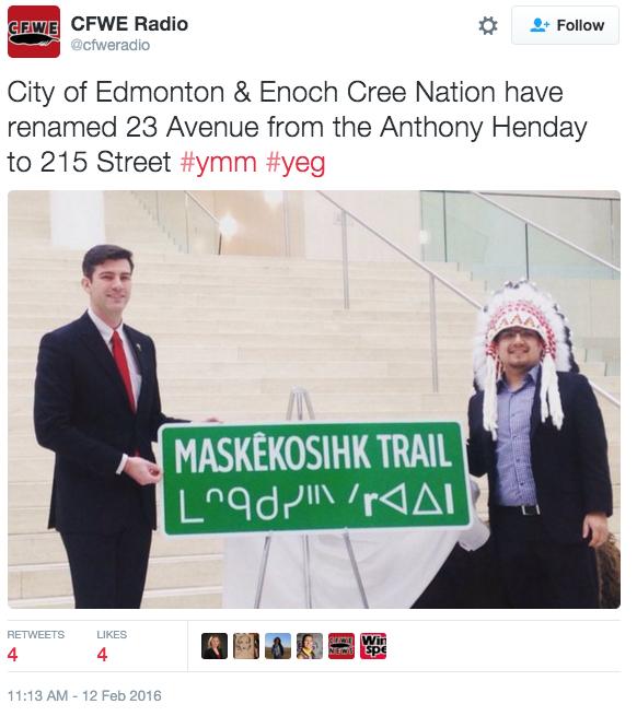 Edmonton Renames Street