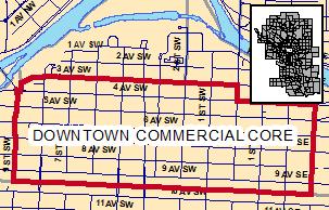 Map Calgary's CBD