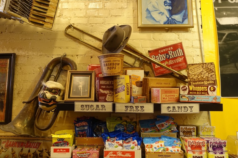 The store is jam-packed with artefacts and fun displays. It is like a museum.
