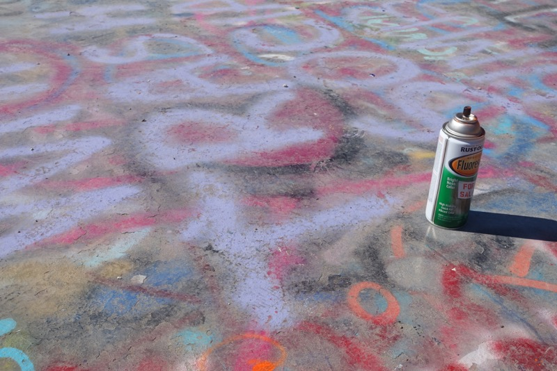Found this spray can at the top of the Gallery, inviting me to contribute.  I am tempted to go back.