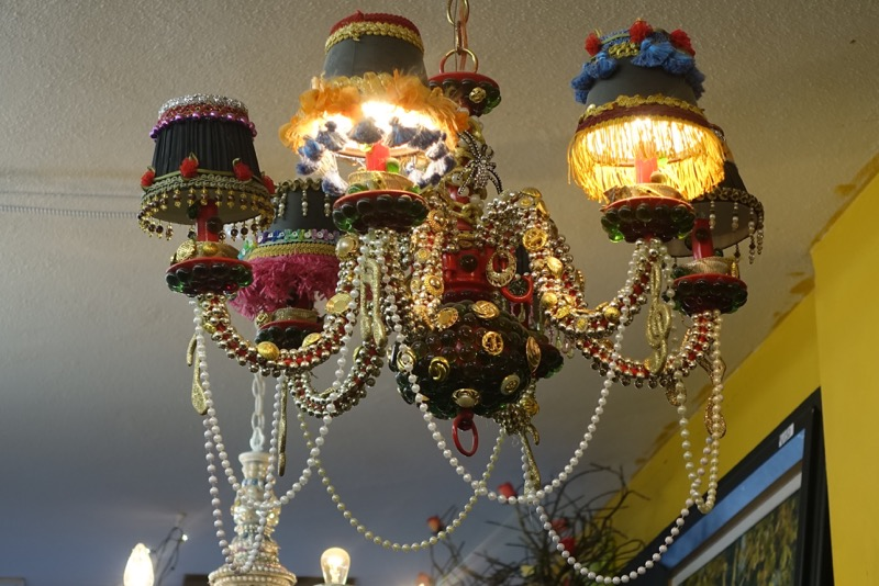 Even the thrift stores get into Austin'd spirit of fun.  This is just one of dozens of chandeliers in the St. Vincent de Paul Thrift Store on South Congress.