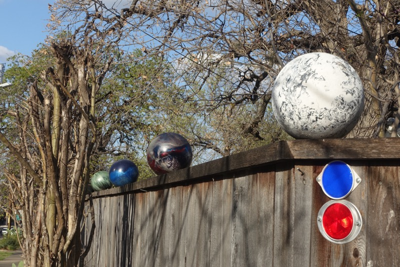 How fun is a bowling ball fence?