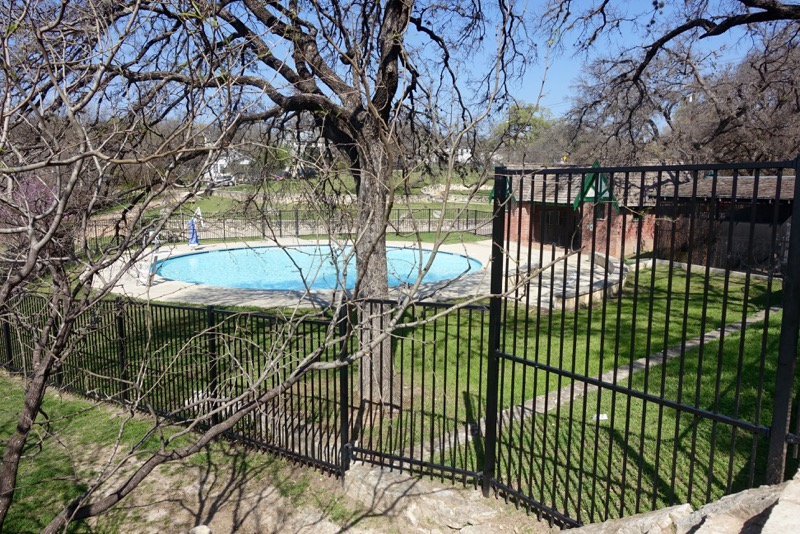 West Austin Park pool looks lovely in winter but it only open in summer.