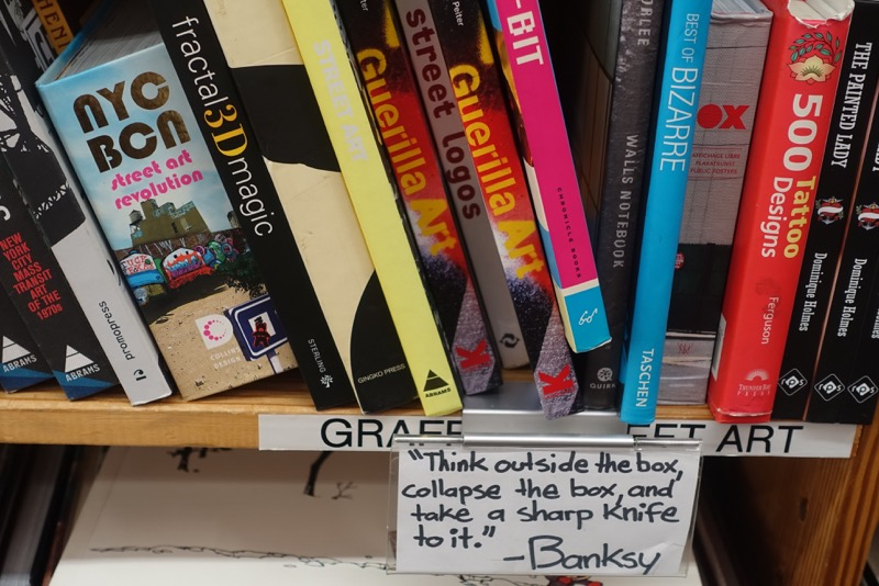 I knew I was in some place special when I saw this note on a bottom shelf almost as soon as I walked into HPB.