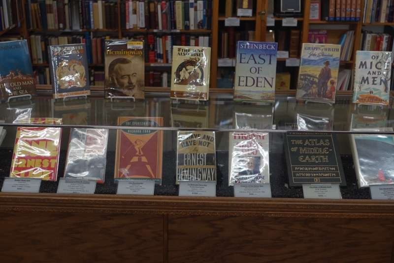 Just one of the many collector book displays.