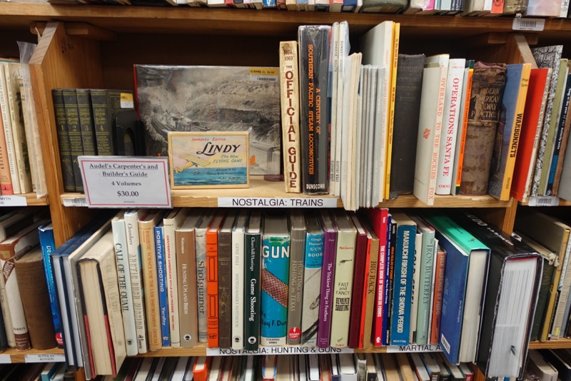 Another example of one of the shelves to give you an appreciation of the quality and diversity of the books available.
