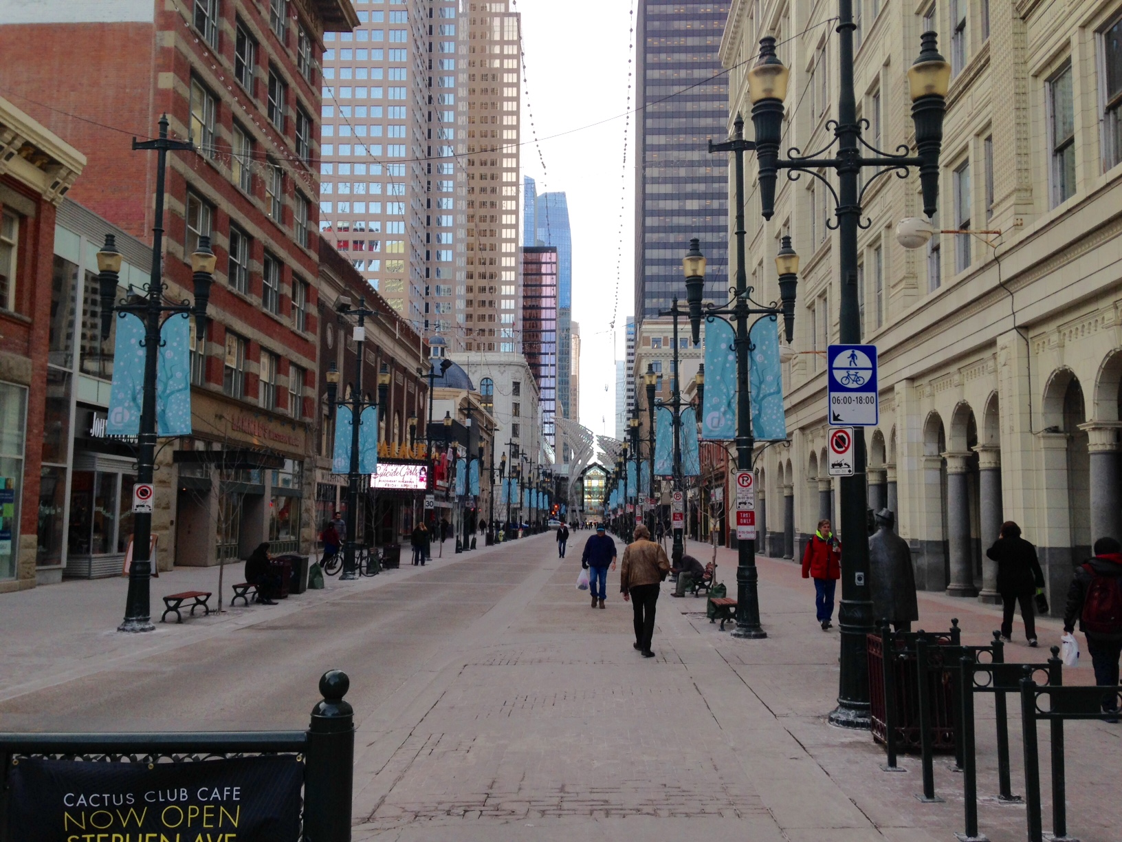 Stephen Avenue Walk today.