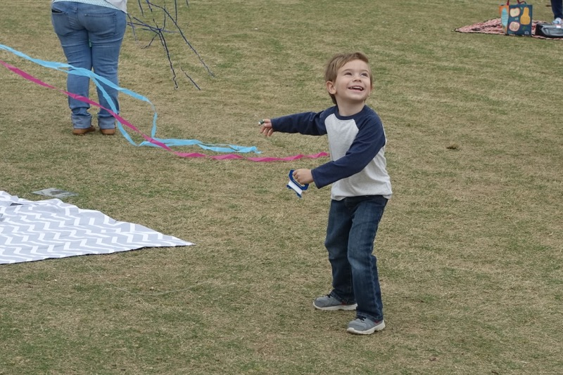 The kite festival is pure joy for little ones.