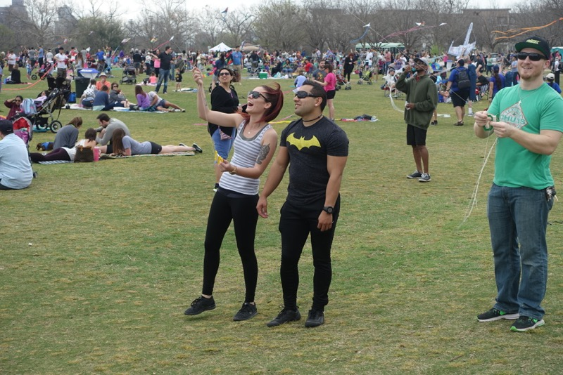 It is not just kids and families that enjoy Austin's Kite Festival.