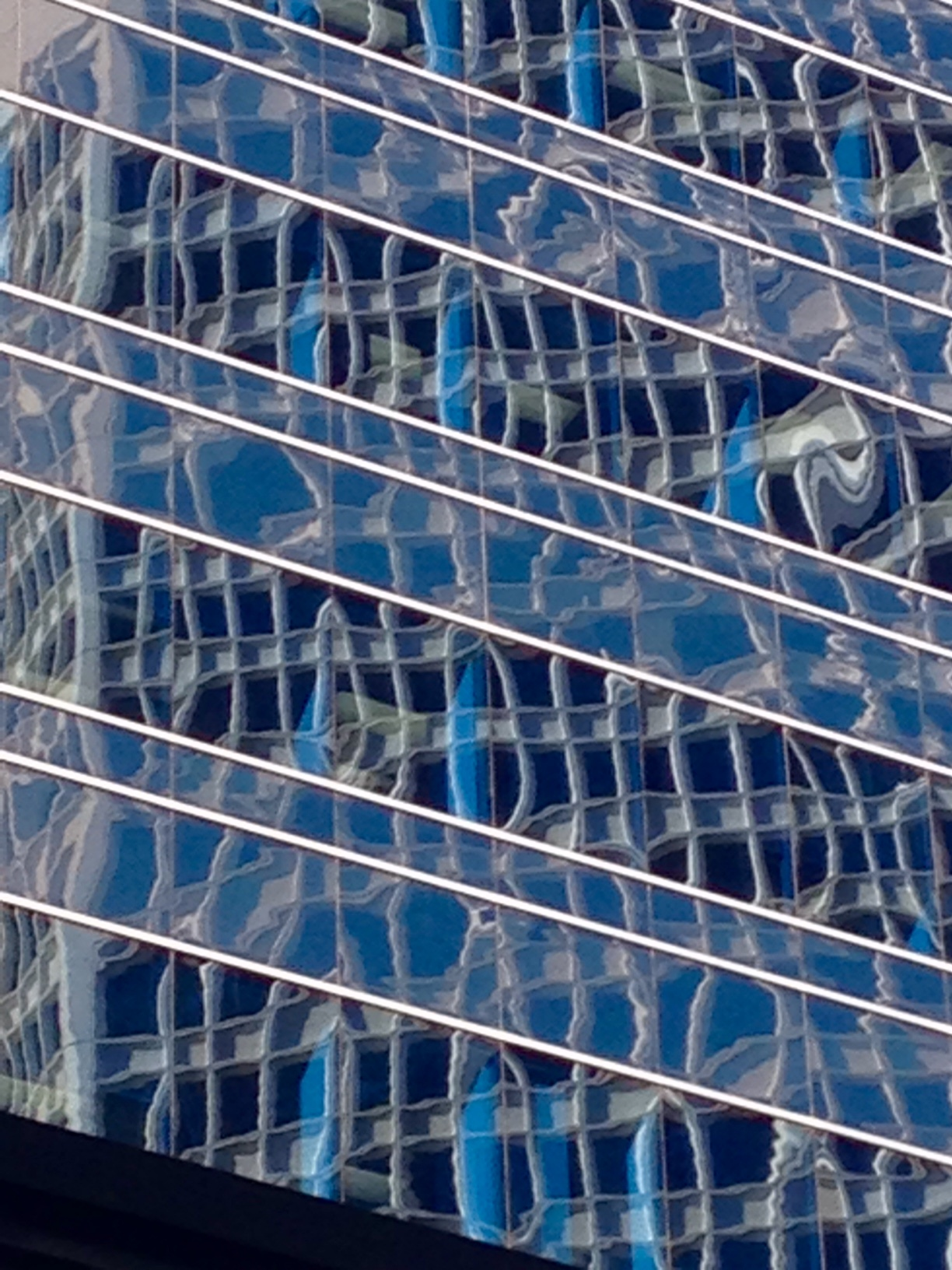 Blue Abstraction downtown Calgary