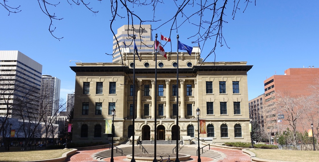 McDougall Centre parkade is under the entire block of the 100+ year old sandstone school.