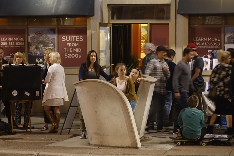 This fun chair created a fun urban playground during Art Crawl.