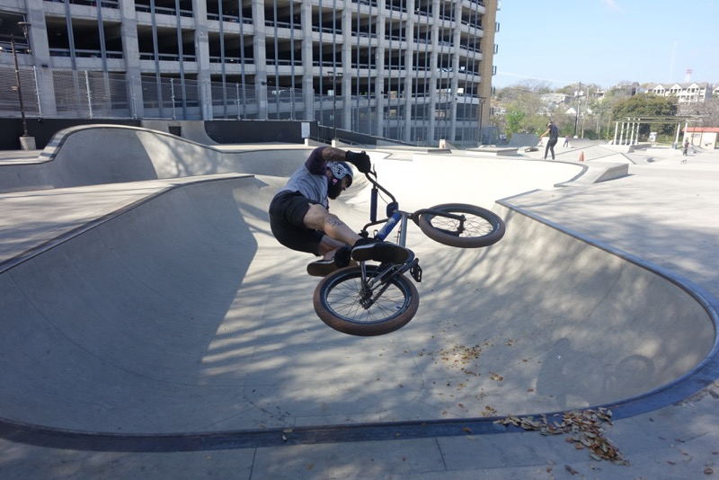 Like Calgary, Austin has a downtown skatepark, not as large as Calgary's but it definitely attracts some talented athletes.