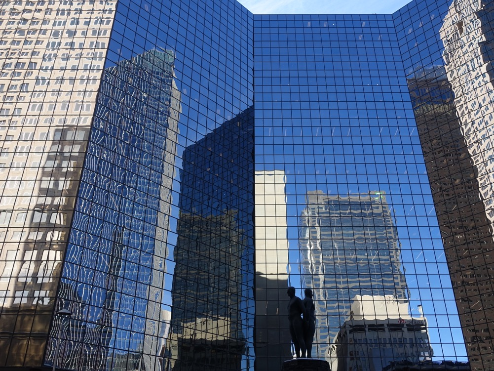 Downtown Calgary has 40 million square feet of office space, making it one of the top 10 in North America, compared to Austin's 10 million square feet.
