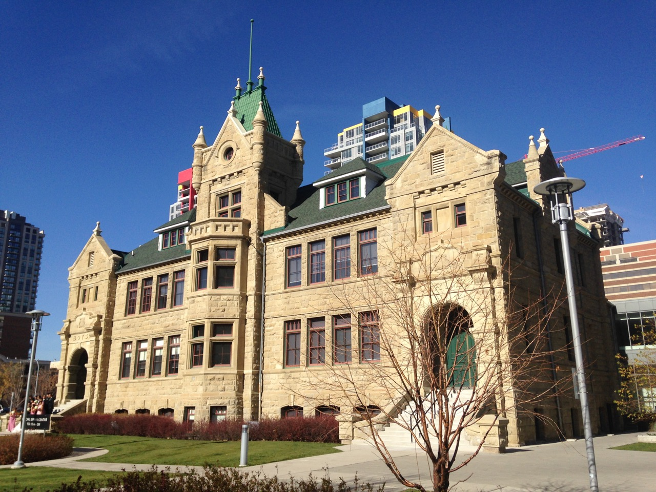 Calgary is known as the Sandstone City, the Collegiate Institute built in 1908 is just one of many elegant sandstone buildings from the early 20th century.
