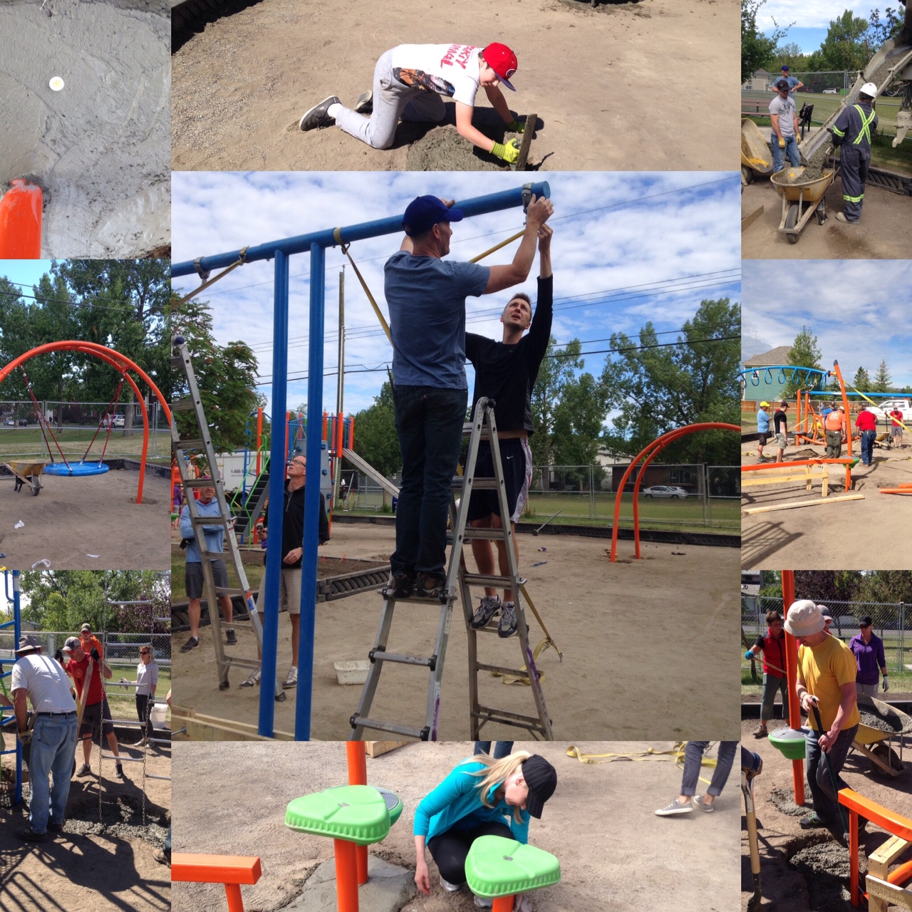 It was a real team effort to get the Grand Trunk Park installed in two days.
