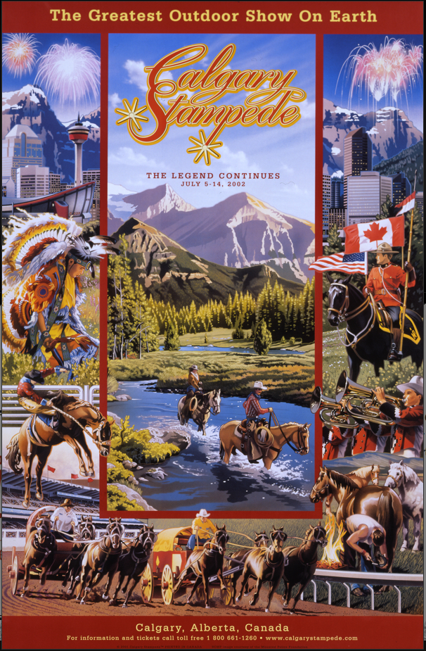 Often the Calgary Stampede posters included images and information about other things for tourists to see and do.