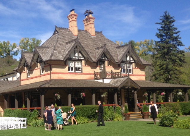 Bow Valley Ranche's grand front yard makes it a perfect spot for weddings.