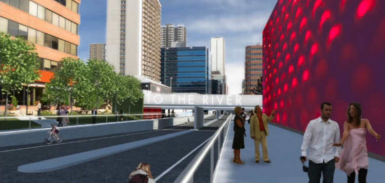 Rendering of the future 8th St. underpass, currently under construction.