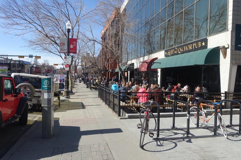Calgary's 17th Avenue has vibrant patio culture.