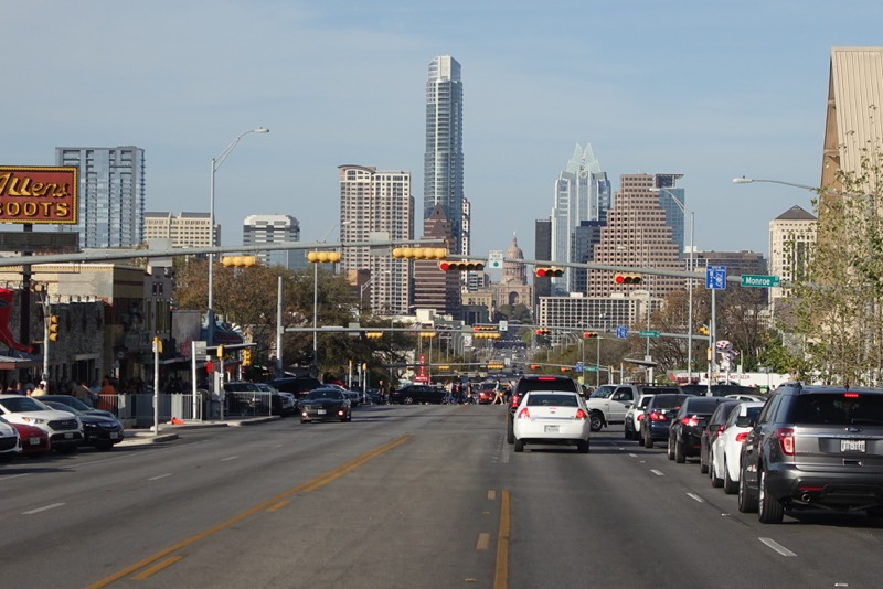 Austin's South Congress Avenue looking north to downtown is a major highway.