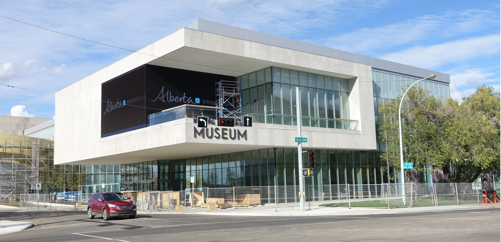 The new Alberta Provincial Museum is current under construction in downtown Edmonton. It is an attractive contemporary box design.