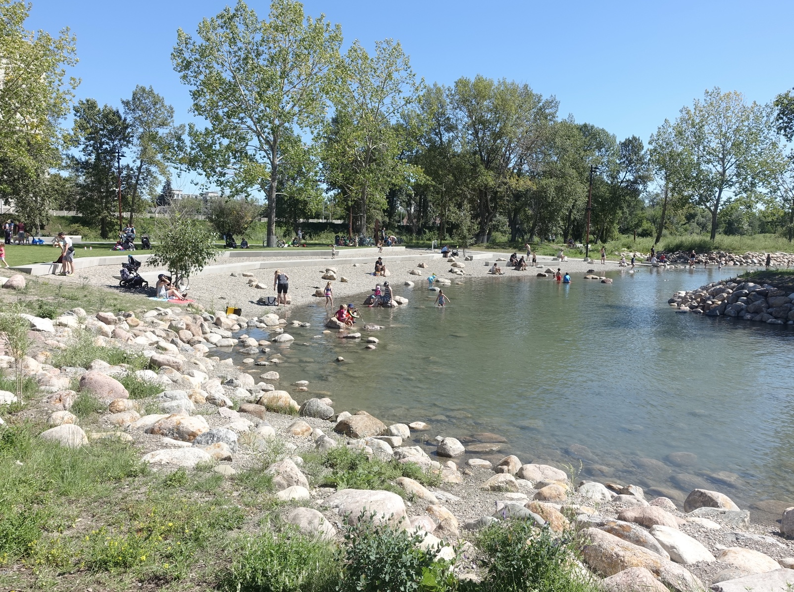 Calgary's newly revitalized St. Patrick's Island and Riverwalk leaves Edmonton's City Centre public spaces in the dust.