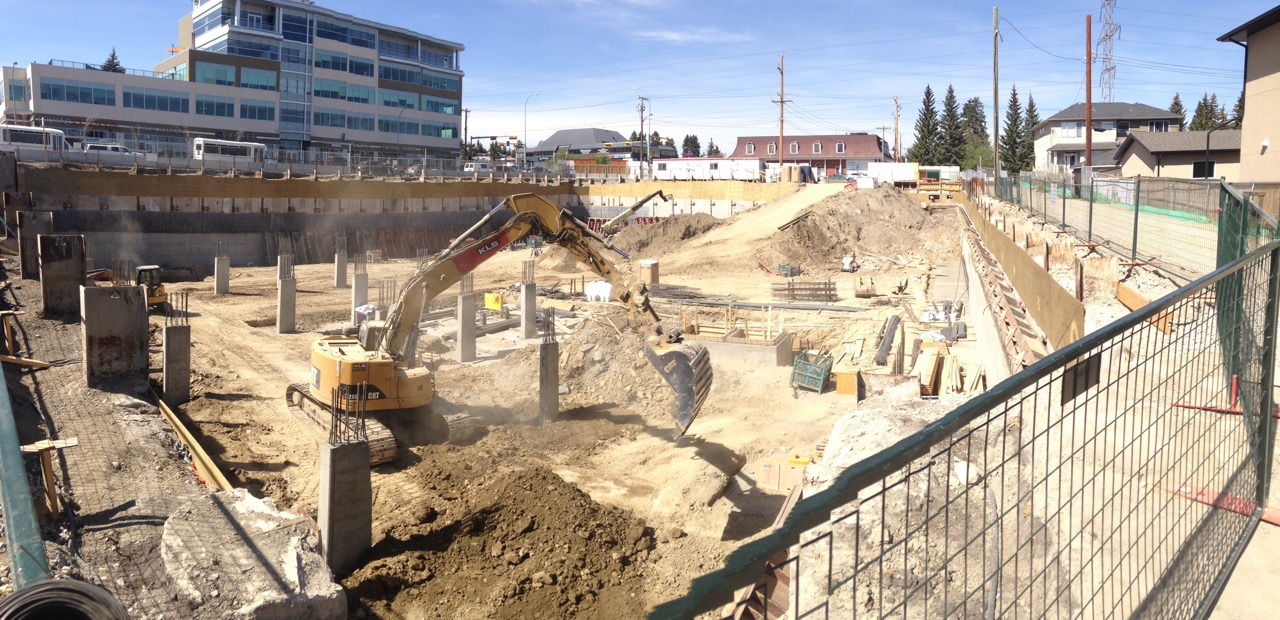 The Windsor Block was just a big hole in the ground this summer - soon it will be a contemporary midrise office building.