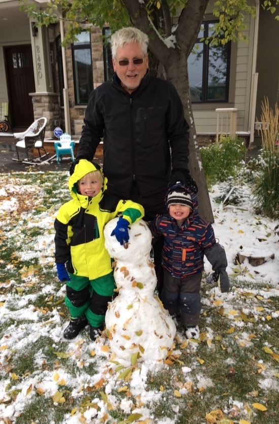 This was our first attempt at a snowman....don't you think the leaves added a nice touch!