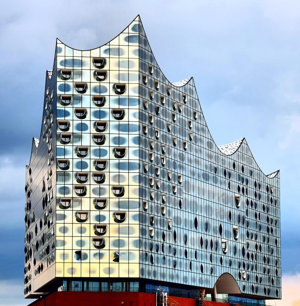 Elbphilharmonie Concert Hall, Hamburg, Germany by Herzog & de Meuron architects.