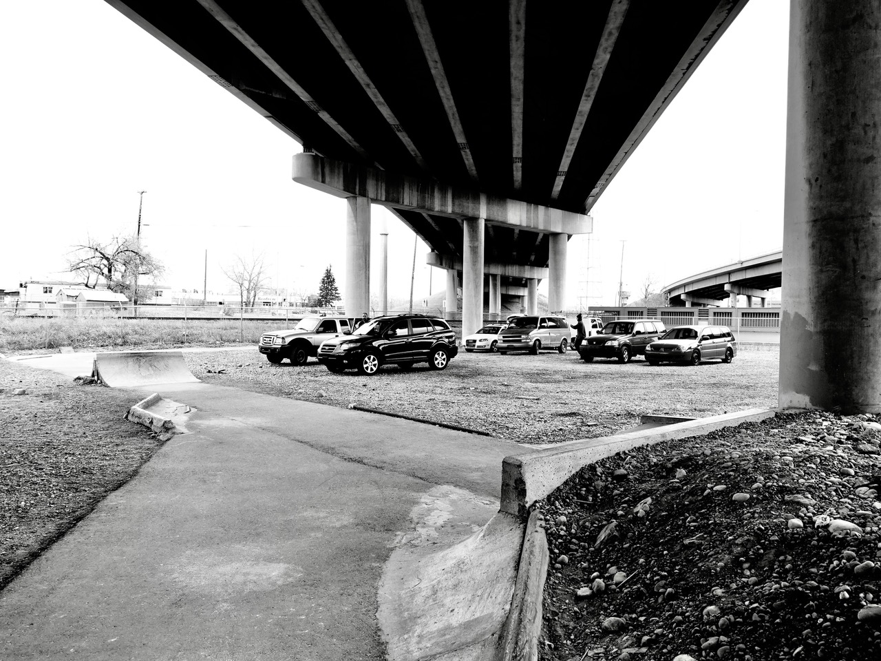 Under the Bow Trail bridge is a no man's land that is quietly becoming a DIY skatepark.