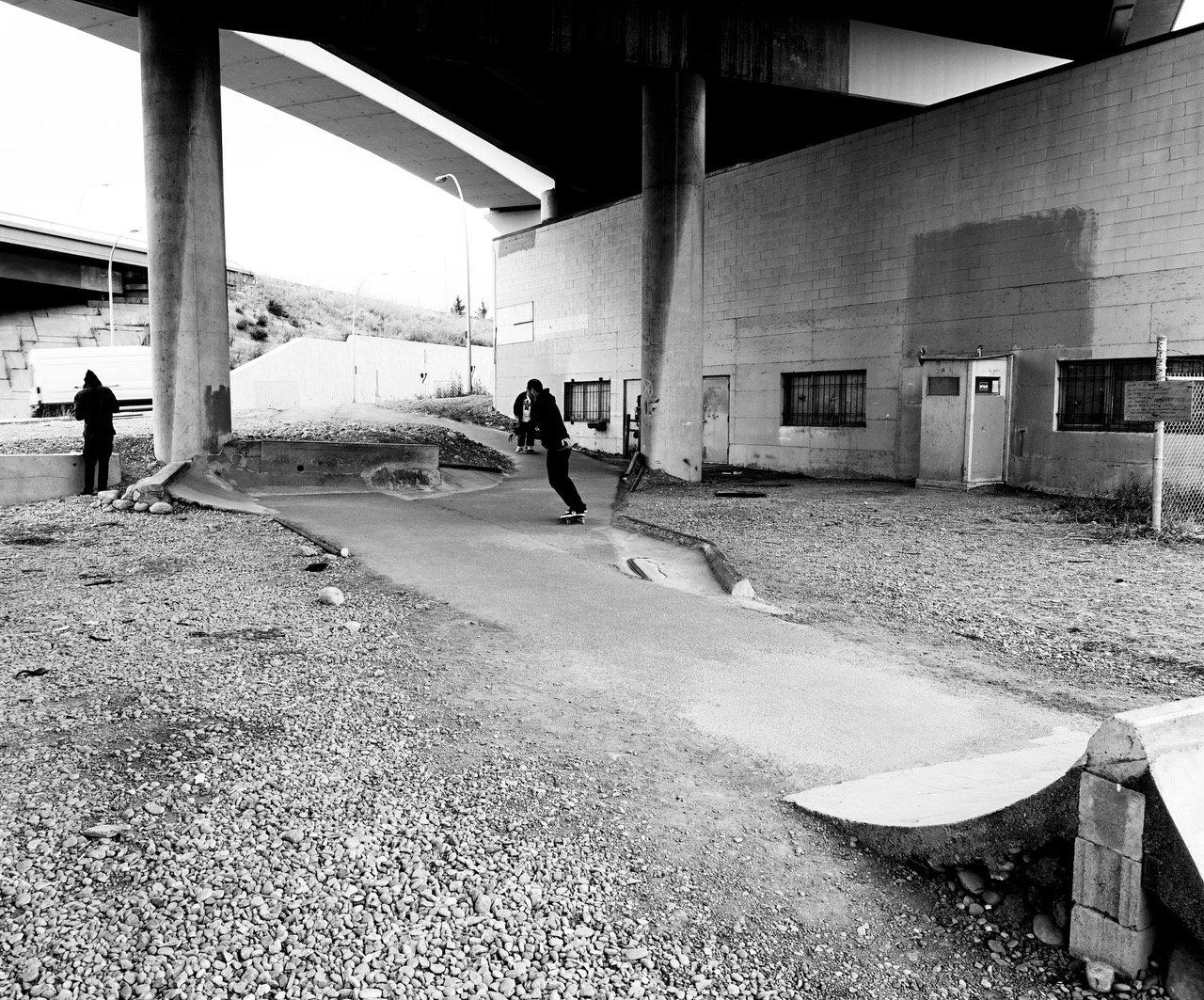 Everyone is invited to enjoy THE BRIDGE skate park. I was even asked if I wanted to give it a try. I declined.