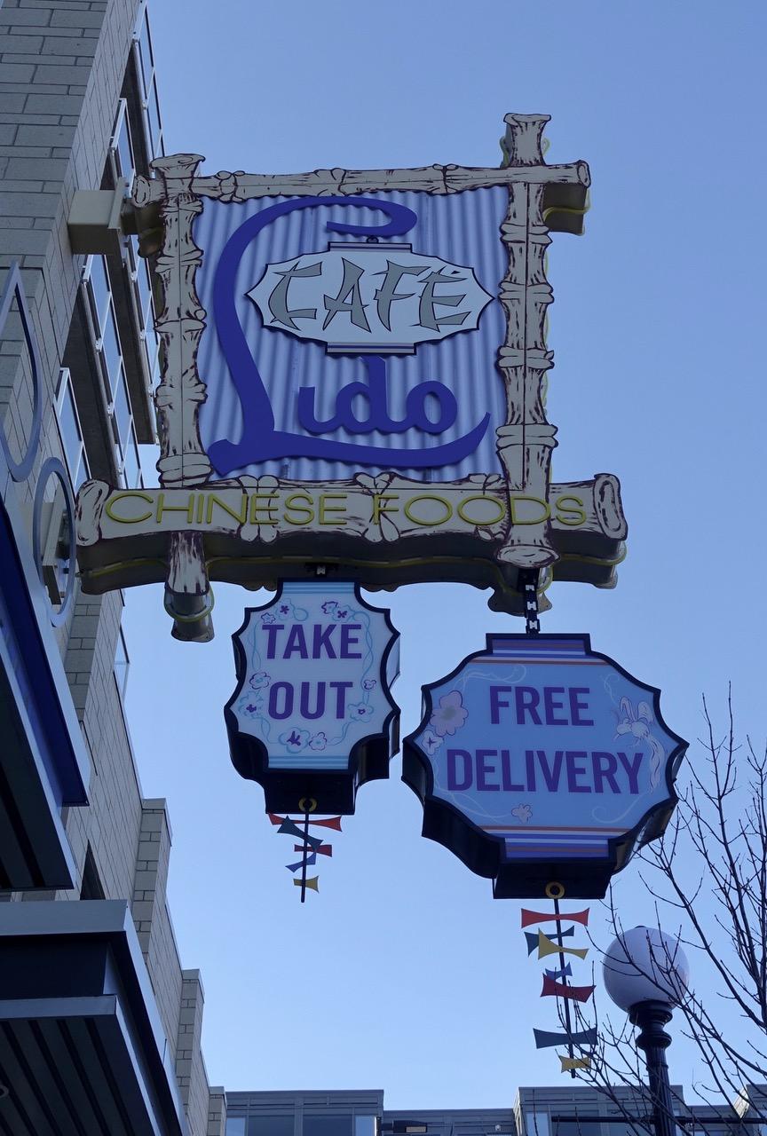 Lido Cafe sign, Lido Condos, Calgary