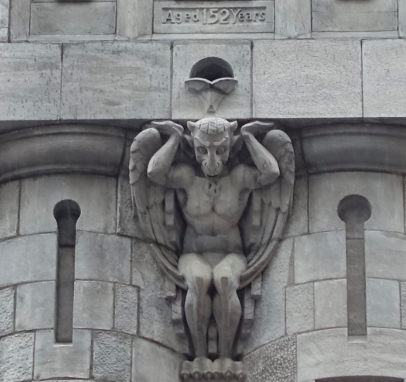I spent a lot of time looking up at the old buildings checking to see if there were any strange characters looking down at me like this guy. FYI: In the entrance of the St. James Church there is a note saying technically a gargoyle should be a water sprout; this was news to me.