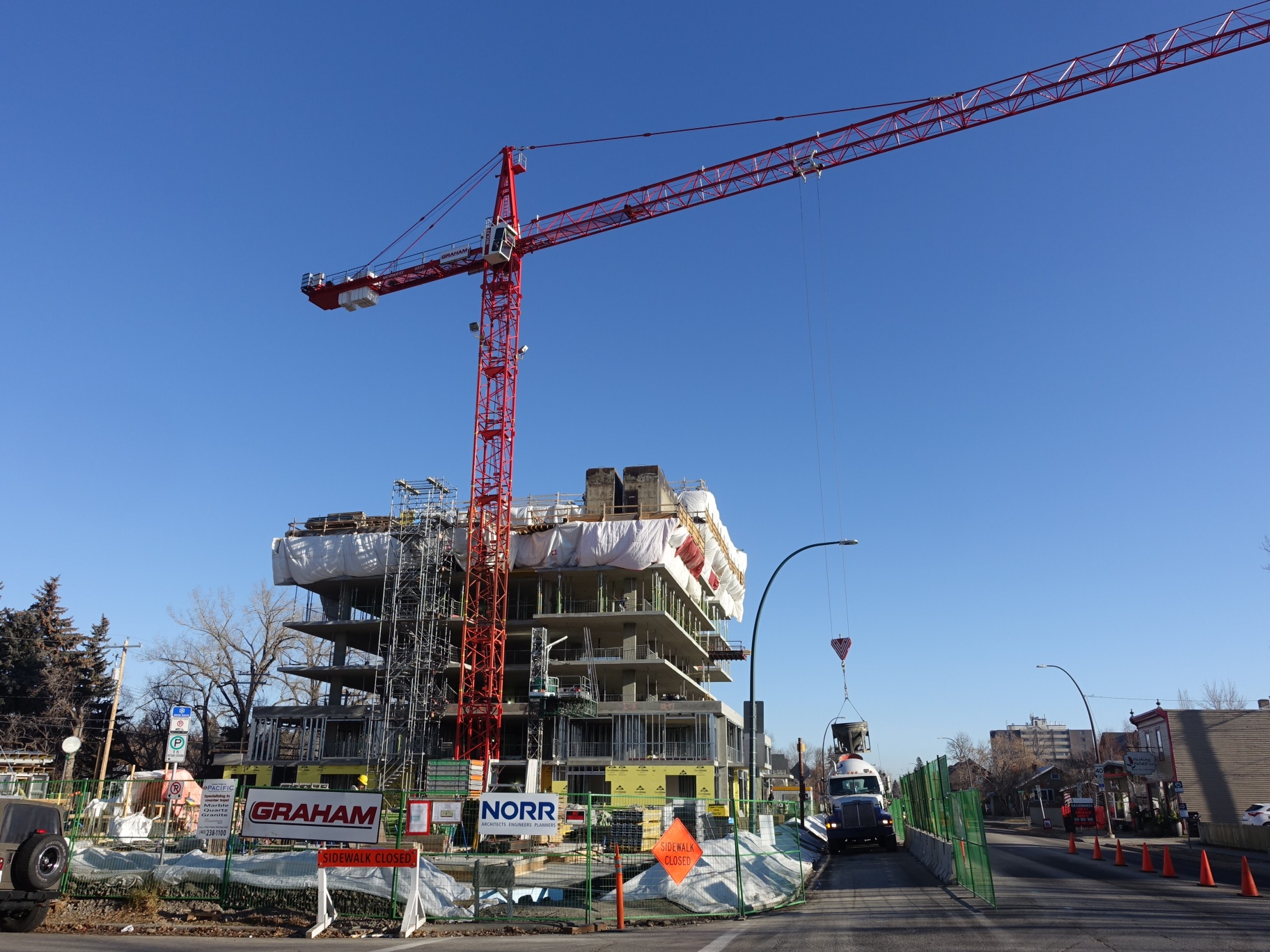Ezra condo's construction is moving forward - I was wrong.
