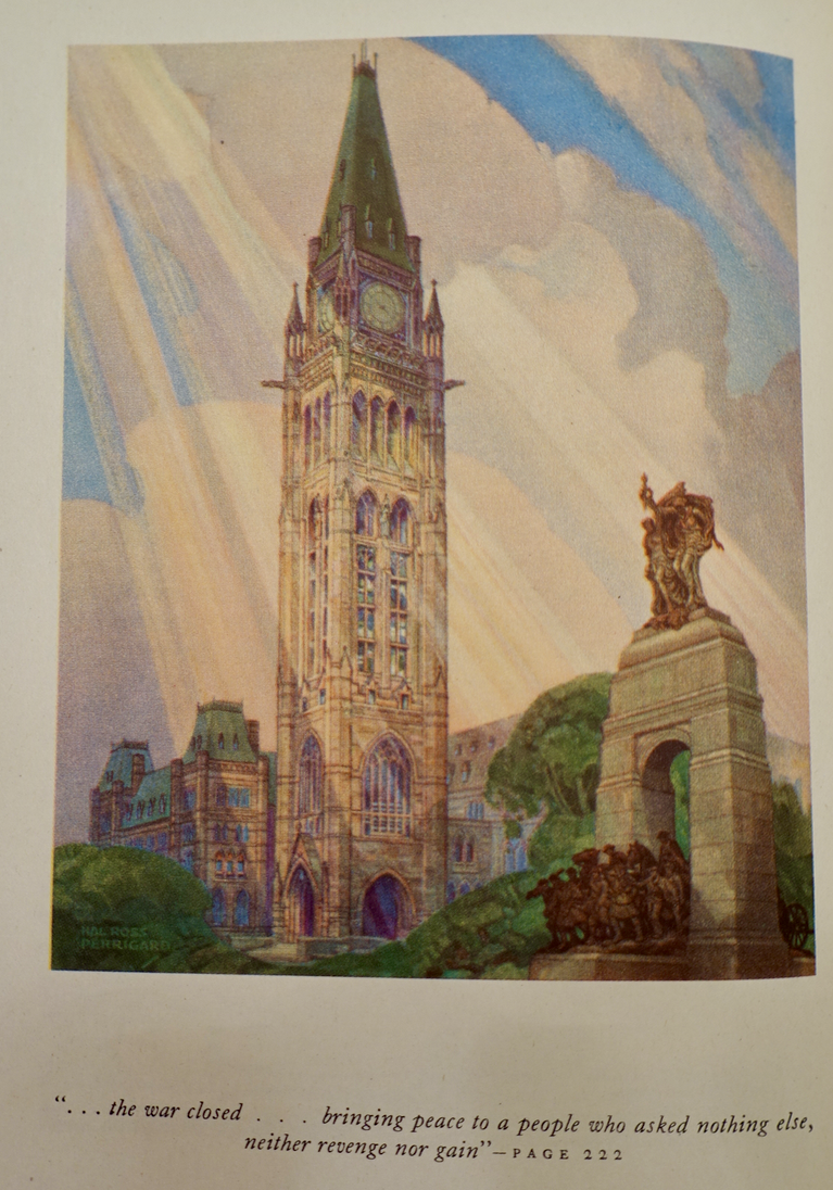 painting by Hal Ross Perrigard, A.R.C.A., Montreal, P.Q., 1941