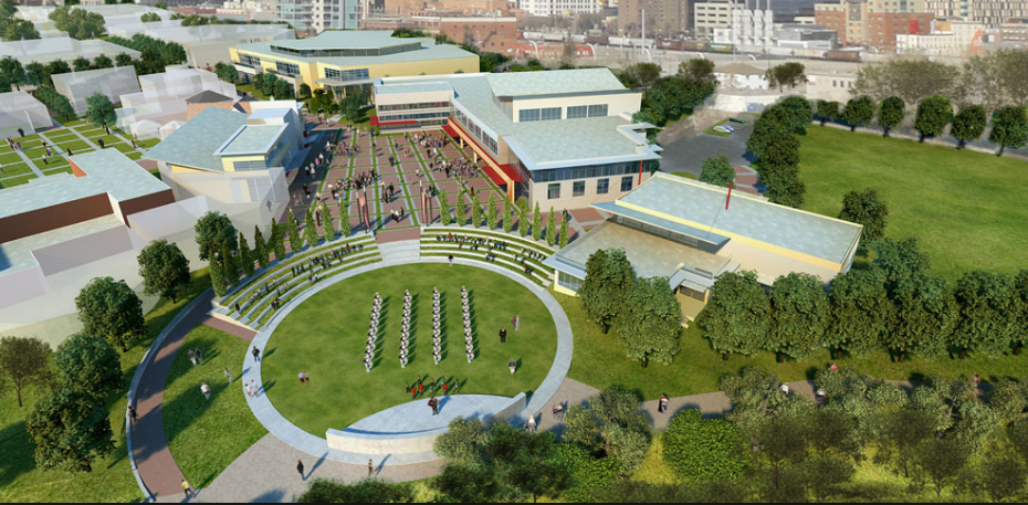 Computer rendering of Calgary Stampede's Youth Campus which is currently under construction.
