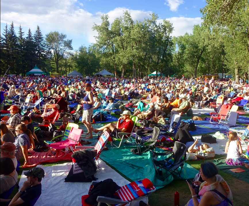 Calgary International Folk Festival's Main Stage on the lovely Prince's Island.