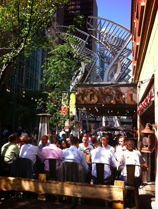 A typical lunch on Stephen Avenue Walk