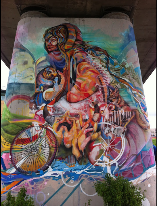 Calgary is home to several street artists.