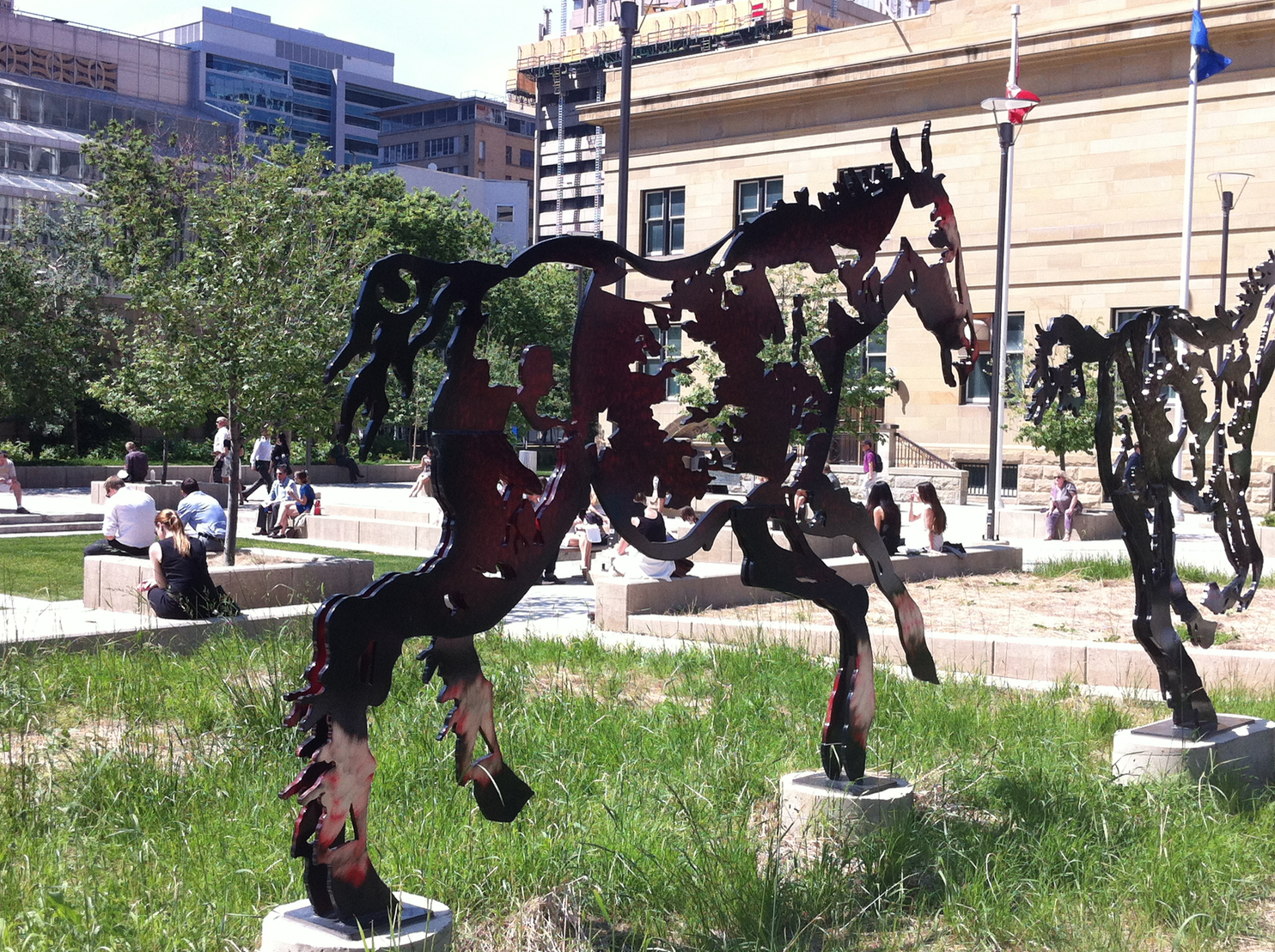 Calgary's City Centre is full of lovely public art, parks and plazas each with their own character and charm.