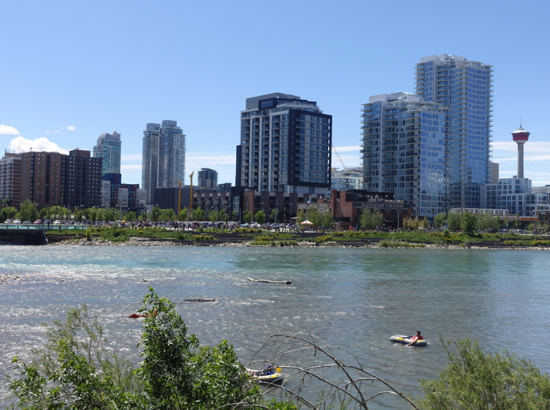 Calgary's East Village skyline is constantly changing with new condo towers.